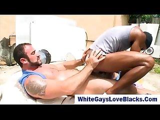 Gay interracial Amateur public