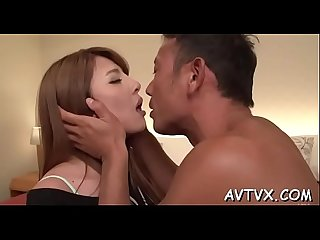 Japanese slut delights stud with awesome cock saddling