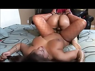 Pinky fucks her lesbian girlfriend Janet Jacme with her favourite strap on