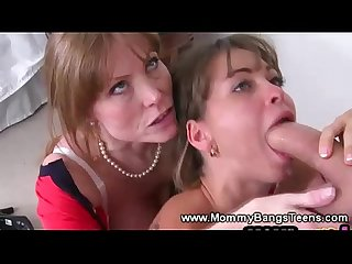 Lucky guy gets to fuck two horny sluts at the same time