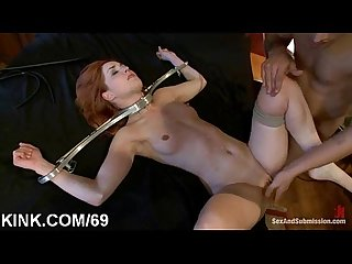 Pretty hot girl suffers beautifully in hard bondage