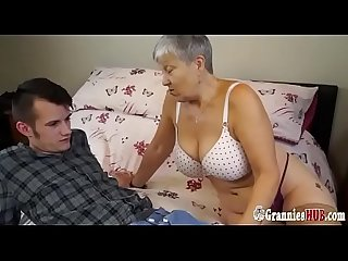 Chubby Granny Savana Loves Hard Young Cock