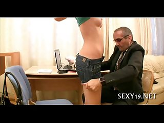 Babe is hungry for teacher S cock