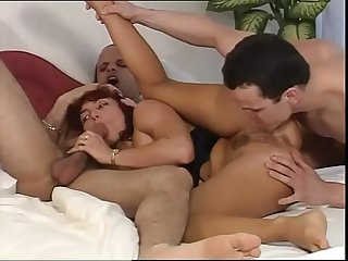 Cute whore picked up and banged by two guys