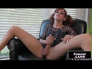 Sweet shemale masturbating until cumshot