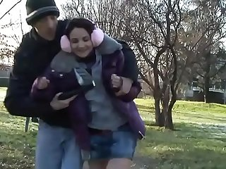Maniac attacks A young Girl in A park for A brutal fuck