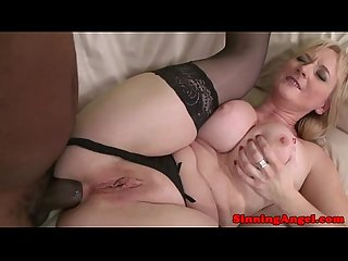 Busty mature interracial ass drilled