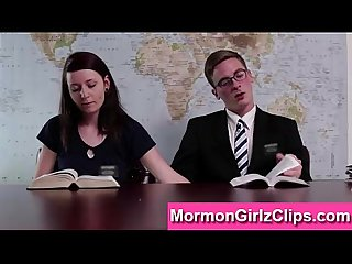 Horny Mormon amateurs masturbate in meeting