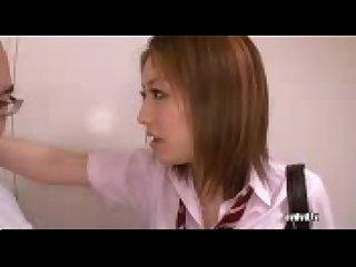 Aggresive schoolgirl