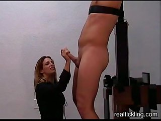 Femdom handjob post orgasm