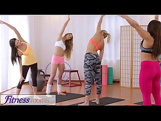 Fitness rooms hot yoga teachers strap on fuck tiny teen