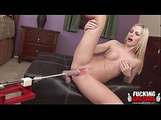Aimee addison using a fucking machine for the first time