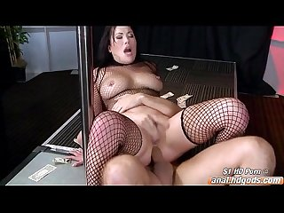 Asian busty london keyes strips for anal and a facial
