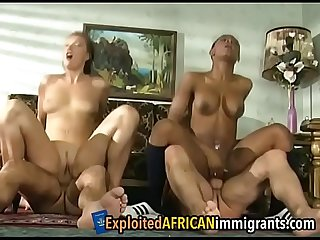 Stunning foursome of interracial couples going hardffair 1 1
