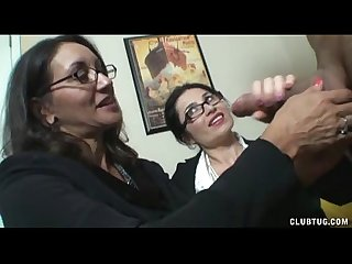 Double milf stroking