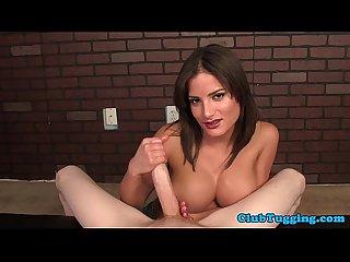Pornstar chi chi medina tugging hard cock