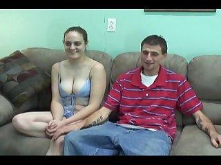Amateur couple fucks fo money