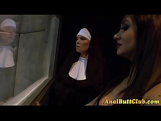 Nuns shove crosses in ass