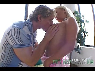 British blonde slut holly wellin takes it in both of her holes