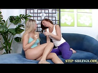 Oral lez teen step sister