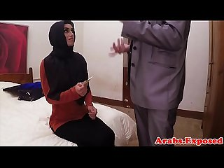 Dicksucking arab beauty bouncing on big cock