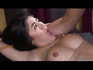 Asian whipped and anal fucked in bdsm