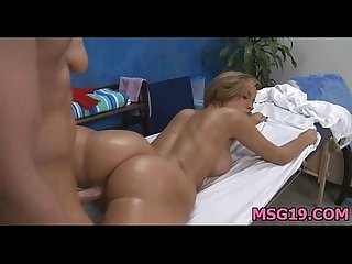 Hot babe plays with dick