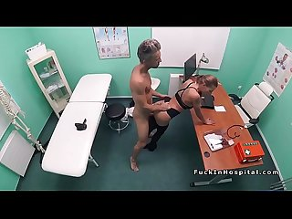 Real estate blonde agent bangs doctor