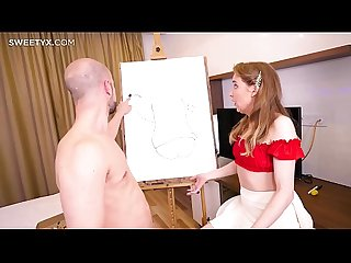 Isabelle Stern gets fucked in the ass by her painting teacher Jean-Marie Corda