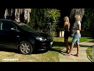 Automobile amour by sapphic erotica sensual lesbian sex scene with lena and al