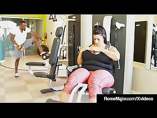 Phat ass bbw sofia rose is wrecked by black cock rome major