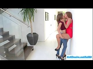 Natasha white and amia miley kissing and licking pussy