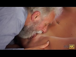 Old4k nice cock of Old teacher was main target for slutty Beauty