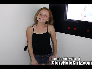 Red head shorty ravaged in a glory hole excl