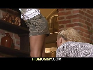 Hot mom seduces her son's GF