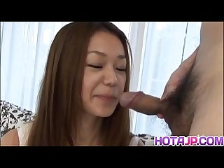 Naughty jp milf sakura hirota practices with fruit before swallowing cock