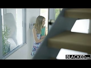 Blacked petite blonde teen rachel james first big black cock