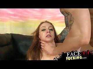 Carmen capri lets two dicks fuck her face