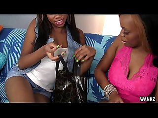 Ebony Lesbians Honey Droppz and Moni Bella Cum Together
