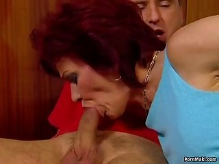 German granny gets assfucked