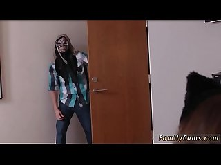 boss's daughter and crony help mom with dad first time Spooking Your