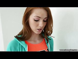 Teenpies pizza guy fills redhead Natalie lust S pie with jizz