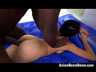 Asian dirty jackie lin taking big black dink doggystyle