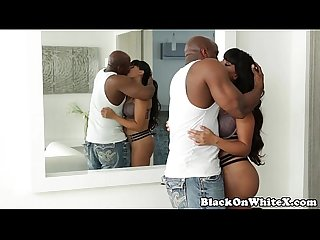 Busty white babe pussyfucked with black cock