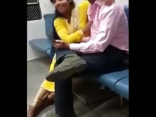 Indian couple in train hidden cam