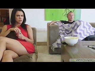 Maya teasing stepbros hard dick