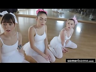 Triple Blowjob From Stunning Ballerinas: Athena Rayne, Ashly Anderson, Shae..