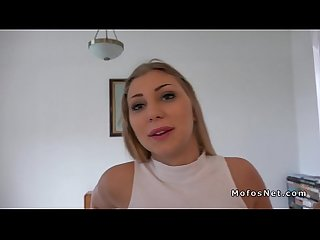 Dude pays and bangs hot amateur blonde pov