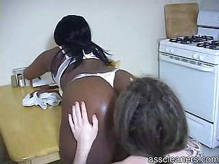 Lazy white man is smothered by fart as he S punished by ebony mistress
