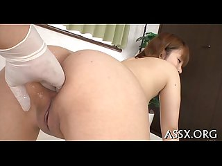 Banging and toying oriental babe s anal